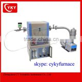 Mini CVD Tube Furnace system with 2 Channel Gas Mixer, Vacuum Pump, and Vacuum Gauge - OTF-1200X-S50-2F