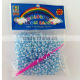 White Dot leadfree Rubber Band DIY Bracelet with S-Clip/C-Clip Hook Learning & Education Toy