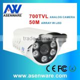 CCTV Security System Led Array 700TVL Bullet Analog CCTV Sony Ccd Video Camera With Ce Certificates