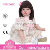 Silicone reborn baby doll wholesale fashion doll 22 real baby doll toy NPK DOLL Factory Girl Doll