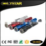 Onlystar GS-8040 3 Led Emergency Promotional Torches Bright Handy Lamp Aluminum Work Telescopic Magnetic flexible flashlight