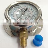 Sanrong Refrigerant Pressure Gauge for Air Conditioner, Low High Oil Filled Pressure Gauge for Refrigeration
