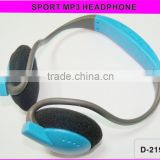 Newest Hot sale Headset TF mp3 mini headset mp3 earphone and headphpone with fm