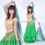 SWEGAL 2013 SGBDP13122 1COLORS green fashion sexy belly dance modern skirts