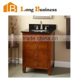 LB-LX2197 Modern wooden European lacquer bathroom vanity with side cabinet