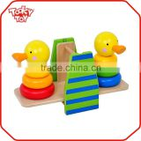 Kids Toy Kids Cute Duckling Tower Craft Wooden Balance Toy                                                                         Quality Choice