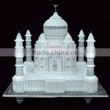 Marble Taj Mahal Replica Miniature ~ Hand Carved Decorative Taj Mahal Model Showpiece ~ Valentine Gifts ~ Indian Souvenir