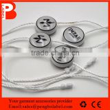 High quality irregular alloy black seal tag with cotton string, metal seal tag                                                                         Quality Choice