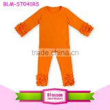 Halloween Boutique Clothing Children Icing Ruffle Outfits Orange Halloween Costumes Halloween Outfit For Girls
