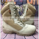 2016 khaki leather rubber sole military tactical desert dubai army boots