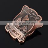 American art style zinc alloy antique engraved money clip with embossed logo for promotion