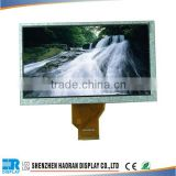 7 inch tft lcd display with touch screen 50-pin lcd display-> 800x480 tft lcd display