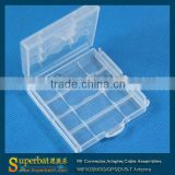 High quality Hard Plastic Battery Holder Storage Box for AA AAA Battery