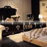 JB26-03 Bedstand with Gold Foil Camellia Flower Engraving JL&C Luxury Classic Home Furniture (China Supplier)