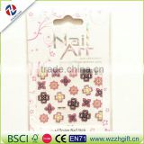 New 3D colorful Flowers Nail Stickers Decals,Top Quality Metallic Mixed Designs Adhesive DIY Nail Art Decoration Tool