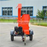 self-feeding wood chipper log shredder with 13HP B&S gasoline engine