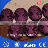 resin cameo resin beauty cabochons rhinestone cameo heat transfer head rhinestone hotfix