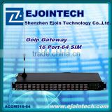 HOTSALE! !2014 Ejoin Good Price 16channels 64sims gsm voip gateway / 16 ports sex 3g gateway router