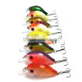 6cm 8g Fishing Lures Minnow Crankbait Crank Bait Bass Tackle Treble Hook Fishing tackle