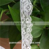 White African Thread Yarn Knitted Flower Lace Trim For Bra/Underwear/Garment Accessories