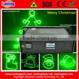 1W Green laser light projector for Christmas