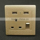 wholesale electric usb charger uk wall switch plug socket with usb