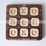 Travel Tic Tac Toe Game - Handmade walnut Intellectual games for parents & children