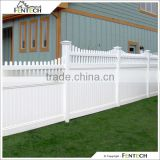 Fentech White Picket Top Vinyl Economic Garden Fence