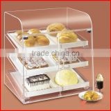 3 tires acrylic food display case perspex bakery showcase