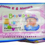 Soft wet baby wipes