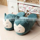 Wholesale good quality cute Pokemon animal confortable soft plush cartoon indoor cotton slippers