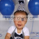 Baby Boy 1st Birthday Outfit Navy And Gray Chevron Navy Bow Tie Gray Suspenders Party Hat Leg Warmers