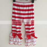 Wholesale New Arrivals Baby Striped Pants Alibaba China Organic Cotton Girl Baby Leggings With The Bow QL-223