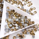 Bulk quality ss16 hot fix stones china glass rhinestones for garment