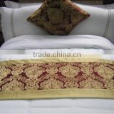 Hotel decorative bed runner 100% polyester