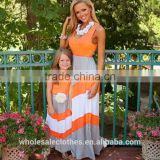 Low Price 2016 family matching mother and daughter dresses clothes outfits