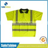 Reflective t shirt half-long sleeve high visibility shirt