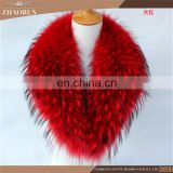 Colorful Good Sale Raccoon Fur Collar /Fur Collar And Scarf For Coat With Customized Size