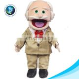 Educational kids toy plush grandfather rag doll cartoon cute custom baby toy stuffed soft toy plush doll hand puppet theater