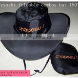 Foldable cowboy hat ,foldable hat 190T