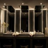 Bathroom mirror modern European toilet frameless LED bathroom backlit mirror