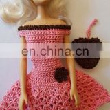 Hot Pink Cheap Doll Clothes Crochet New Handmade