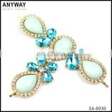 Newest decorative flower small rhinestone buckles for summer beach flip flop