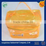 clear pvc tote plastic shower bag with zipper