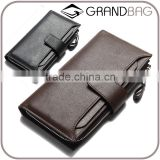 high capacity genuine leather men's wallet with many card slots, wholsale rfd leather wallet for men                                                                         Quality Choice