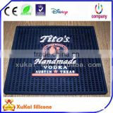 Custom high quality promotion gift Simple fashion PVC rubber bar mat