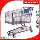 180L Covenient Mesh Shopping Trolley With Child Seat and belt