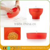 Microwave magic silicone popcorn maker bowl bucket with lid