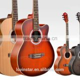 "Promotional Cheap Price 40"" Mahogany wood acoustic guitar"