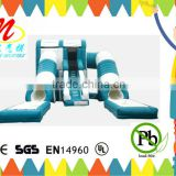 Building toys double tubes inflatable pool water slides